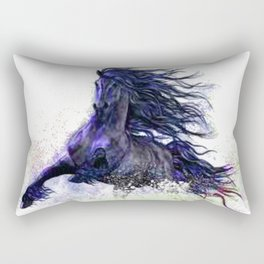 Horse running  Rectangular Pillow