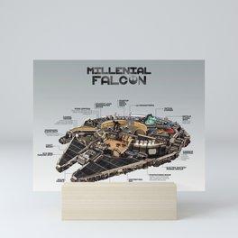Millennial Falcon Mini Art Print