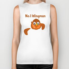 No.1 Wingman   Broken Wing Biker Tank