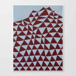 triangle tectonics (red on blue) Canvas Print