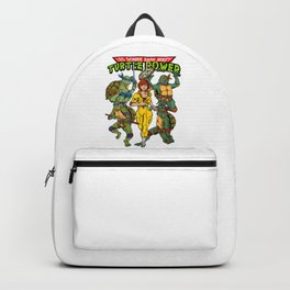Classic Leo, Donnie, Raph, Mikey, and April O'Neil - Turtle Power! Backpack