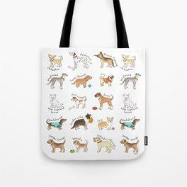 Breeds of Dog Tote Bag