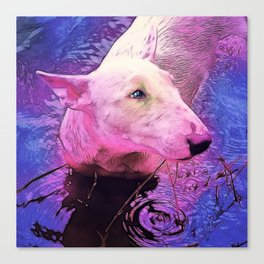 Bull Terrior Canvas Print