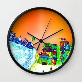 bright glittering sands and UFO Wall Clock