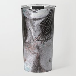Nothing Violates This Nature (erotic drawing, nude butterfly girl) Travel Mug