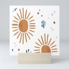 sunbursts Mini Art Print