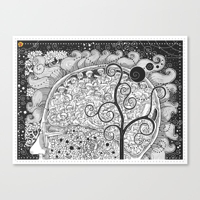 The White Noise Canvas Print by Charbak CNV9010427