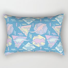 Nineties Dinosaurs Pattern  - Pastel version Rectangular Pillow