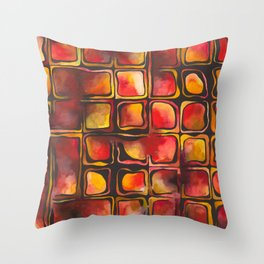 Red Blood Cells in Flow Throw Pillow