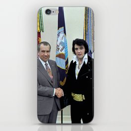 Richard M. Nixon and Elvis Presley at the White House, 1970. iPhone Skin