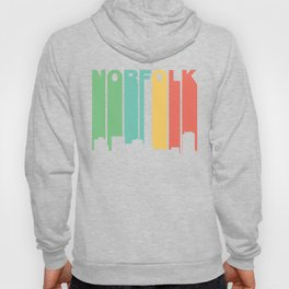 Retro 1970's Style Norfolk Virginia Skyline Hoody