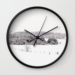 Frosty Fields Wall Clock