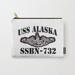 USS ALASKA (SSBN-732) BLACK LETTERS Carry-All Pouch