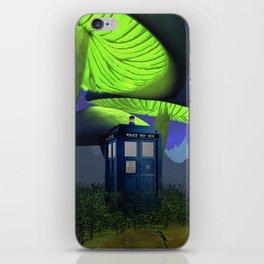 Tardis in the planet of alien iPhone Skin