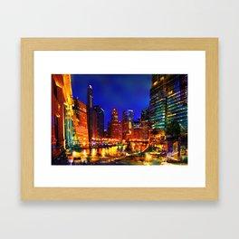 Chicago at Dusk Framed Art Print
