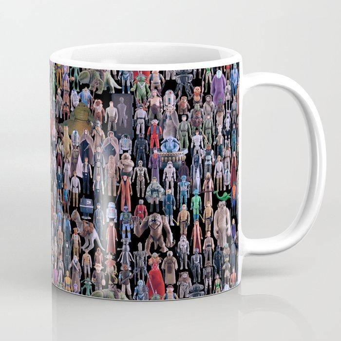 star wars vintage figures collage coffee mug by kakin society6