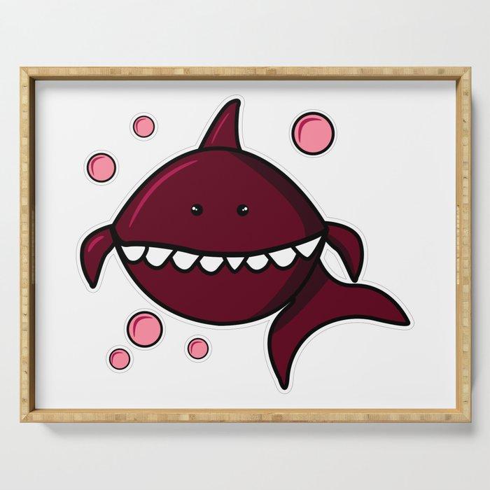 Red shark, Shark svg, Shark png, Shark vector, Shark black, Shark eps, Baby Shark, Shark bubble Serving Tray