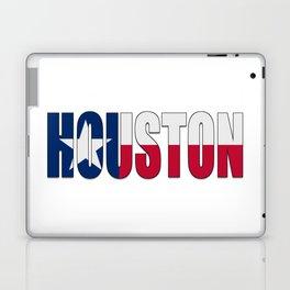Houston TX Text with Lone Star Flag Laptop & iPad Skin