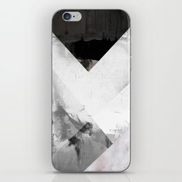 Marble black and white texture illustration art print gray scale iPhone Skin