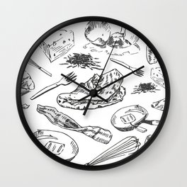 Oh My Omelets Wall Clock