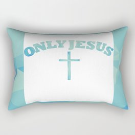Only Jesus Rectangular Pillow