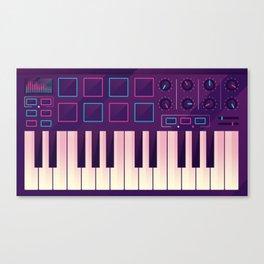 Neon MIDI Controller Canvas Print