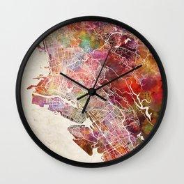 Oakland map Wall Clock