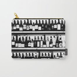 Wine Bottles in Black And White #society6 #decor Carry-All Pouch