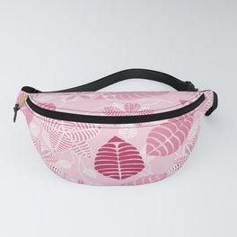 Pretty Pink Floral Leaf Pattern Fanny Pack
