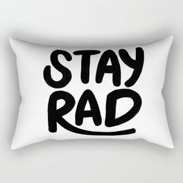 Stay Rad B&W Rectangular Pillow