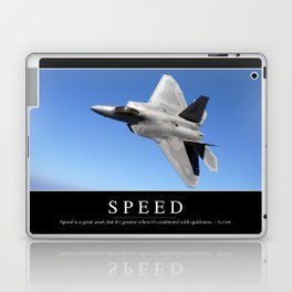 Speed: Inspirational Quote and Motivational Poster Laptop & iPad Skin