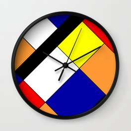 Mondrian #18 Wall Clock