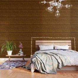 Mud Cloth on Brown Wallpaper