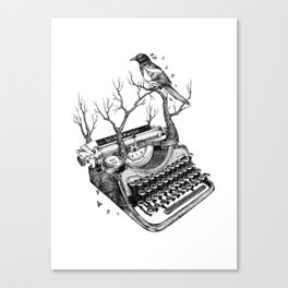 Magpie,  letterhief Canvas Print