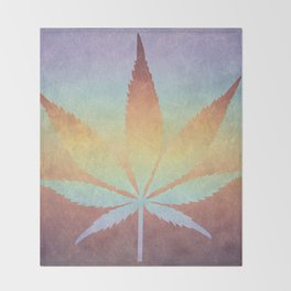 Somewhere over the rainbow, way up high Throw Blanket