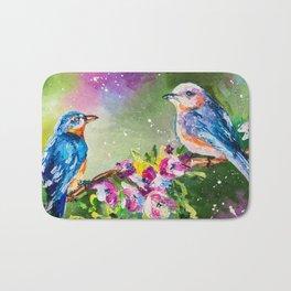 SPRING BIRDS Bath Mat