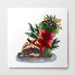 Mad Christmas Stocking Filler Metal Print