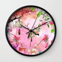 Oriental Garden Wall Clock