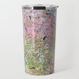 Spring Hydrangeas, Pastel Abstract, Modern Painting Travel Mug
