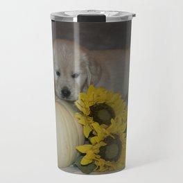 Darby and Sunflowers Travel Mug