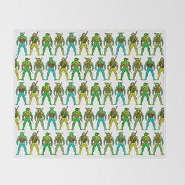 Superhero Butts - Turtles Throw Blanket