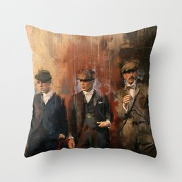 Shelby Brothers Throw Pillow