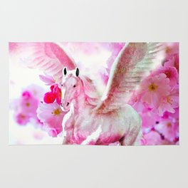 HORSE PINK FANTASY CHERRY BLOSSOMS Rug