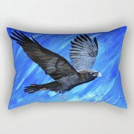 Black Raven Rectangular Pillow