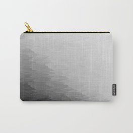 Gray Texture Ombre Carry-All Pouch
