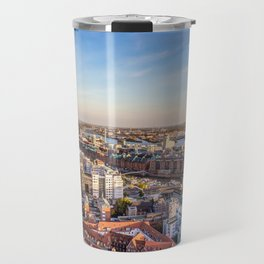 Aerial view of Hamburg with Speicherstadt and Elbphilharmonie Travel Mug