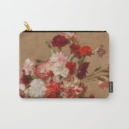 Henri Fantin Latour - Carnations Without Vase Carry-All Pouch