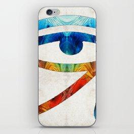 Eye of Horus - Art By Sharon Cummings iPhone Skin