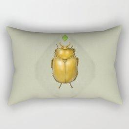 Gold bug Rectangular Pillow