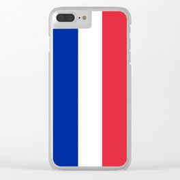 Flag of France, HQ image Clear iPhone Case